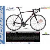 จักรยานเสือหมอบ MERIDA SCULTURA 200,16สปีด Claris 2015 ตะเกียบฟูลคาร์บอน ดุมแบร์ริ่ง