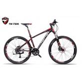 จักรยานเสือภูเขา TWITTER รุ่น TW7500 ,27สปีด เฟรมอลู กระโหลกกลวง 2015