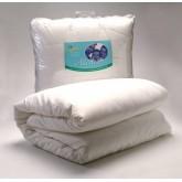 ชุดเครื่องนอนสำหรับป้องกันภูมิแพ้จากไรฝุ่น ขนาด 3.5 ฟุต พร้อมปลอกผ้านวม สีขาว  ( Single Set )