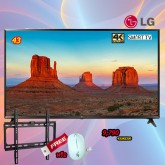 43 LG UHD TV 4K Smart DTV  43UK6300 แถม ขาแขวนติดผนัง หรือ เม้าไร้สาย