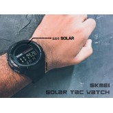 SKMEI SOLAR TAC BLACK WATCH