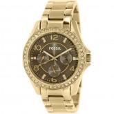 นาฬิกาข้อมือ Fossil Riley Multifunction Gold-Tone รุ่น ES3695 ^^แท้ พร้อมใบรับประกัน