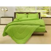 ชุดผ้านวมสีพื้น สีเขียวแสด