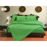 ชุดผ้านวมสีพื้น สีเขียว