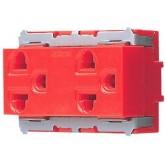 ปลั๊กกราวน์คู่ WNG15923-7 สีแดง พานาโซนิค Panasonic