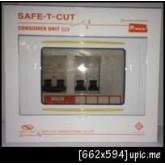 ตู้ไฟ ตู้คอนซูเมอร์ 4ช่อง พร้อมเมนส์50A ลูก2ตัว ครบชุด เซฟทีคัท Safe T cut