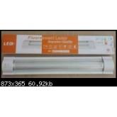 โคมนีออนติดเพดาน LED 2x9W FSL แสงขาว เดย์ไลท์ ฝาครอบอะคิลิคสีขาว รับประกัน 1ปี