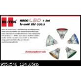 หลอดแอลอีดี LED ฮาโลเจ่น 220V 7วัตต์  แสงน้ำเงิน HITEK