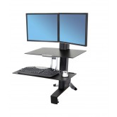 33-349-200 - WorkFit-S, Dual Monitor with Worksurface+