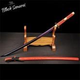 Black Samurai ดาบซามูไร katana T10 รุ่น Red lightning ฮามอนแท้ เพิ่มClay ลับคมแล้ว แต่งครบ เคลือบเงา