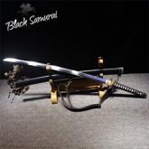Black Samurai ดาบซามูไร katana T10  รุ่น Black Panther ฮามอนแท้ ลับคมแล้ว แต่งครบ เคลือบเงา ฟักดาบหน