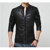 เสื้อแจ็คเก็ตผู้ชายหนังPU