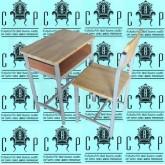 2.6.โต๊ะเก้าอี้นักเรียนเอสี่ ไม้ยางพารา