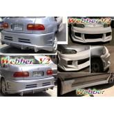 ชุดแต่งรอบคัน Civic 4 ประตู 92-95 ทรง Webber V2