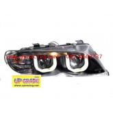 ไฟหน้ามุมติดDRL-Look E46(02-05) โคมดำ