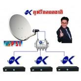 ชุดจานดาวเทียม PSI OK (TRUE TV) ขนาด 60 ซ.ม.