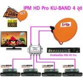 ชุดจานดาวเทียม IPM 75 ซ.ม. รุ่น HD Pro