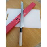 มีดเชฟ ญี่ปุ่น Yanagiba sushi sashimi knife ใบมีดยาว 28 เซ็นติเมตร ใบมีดทรงซามูไร ด้ามจับไม้