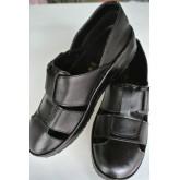 รองเท้าผู้ชายหนังแท้หุ้มส้นสีดำ