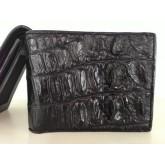 กระเป๋าเงินหนังจระเข้แท้ 100  สีดำ