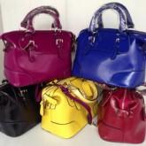 กระเป๋าสะพายหนังแท้ผู้หญิง5สีสะพายยาวมีหูหิ้วหนังเงา