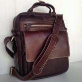 กระเป๋าสะพายหนังแท้หูหิ้วหนังสายสะพายหนังขนาดใส่ ipad