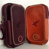 กระเป๋าคาดเอวร้อยเข็มขัดใส่มือถือใหญ่ได้ 2 เครื่องขนาดiphone5 ซัมซุงWin แนวตั้ง