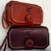 กระเป๋ามือถือหนังแท้รุ่น iphone5 ซัมซุง WIN ใส่ได้ 2 เครื่อง ตั้งและนอน