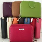 กระเป๋าเงินหนังแท้ผู้หญิง ซิปรอบ11สีสวยสดใส