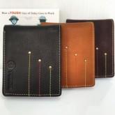 กระเป๋าเงินหนังแท้รุ่นTOUGHเดินเส้น3สี