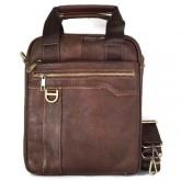 กระเป๋าสะพายหนังแท้2หูห่วงข้างสีน้ำตาลทองสวยIPAD1-2