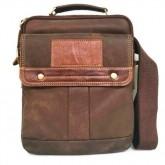 กระเป๋าสะพายหนังแท้หูจับฝากระดุมคู่ซิปคู่ipad2-3