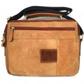 กระเป๋าสะพายหนังแท้หูจับฝายาวแทนสีฟอกนอนipad2-3