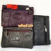 กระเป๋าหนังแท้ ใส่กุญแจ เหรียญ จุกจิก  บัตรใส่ช่องหน้าได้3สี