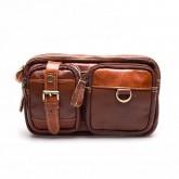กระเป๋าคาดเอวสะพายหน้าอกหนังแท้สีทูโทนรุ่นกระเป๋า2ข้าง