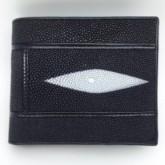 กระเป๋าเงินหนังกระเบนต่อสีดำ