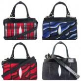 กระเป๋าหนังกระเบนแท้ซิปคู้2หูสะพายยาว4สี