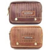 กระเป๋าหนังแท้ใส่มือถือร้อยเข็มขัดฝายาว2ดุมBen