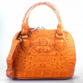กระเป๋าสะพายหนังจระเข้แท้BBAlma สีส้ม