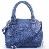 กระเป๋าสะพายหนังจระเข้แท้BBAlma สีน้ำเงิน