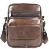 กระเป๋าสะพายหนังแท้ฝาหน้าใบบกระทัดรัด