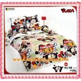 ผ้าปูที่นอนโตโต้ลายการ์ตูนลิขสิทธิ์ พุ๊กค๊า PUCCA- PU08