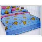 ชุดเครื่องนอน ผ้าปูที่นอนโตโต้ ลายการ์ตูนลิขสิทธิ์ Pooh สินค้าคุณภาพลายการ์ตูนจาก TOTO