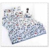 ชุดเครื่องนอน ผ้าปูที่นอนโตโต้ ลายการ์ตูนลิขสิทธิ์ Snoopy สินค้าคุณภาพลายการ์ตูนจาก TOTO