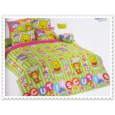 ชุดเครื่องนอน ผ้าปูที่นอนโตโต้ ลายการ์ตูนลิขสิทธิ์ Cutie สินค้าคุณภาพลายการ์ตูนจาก TOTO