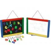 ชุดกระดานและอักษรแม่เหล็ก ชอล์คและไวท์บอร์ด - Magnetic Chalkboard / Dry Erase Board ยี่ห้อ Melissa