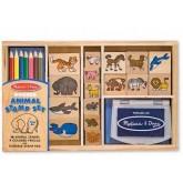 ชุดแสต้มป์รูปสัตว์ ชุดใหญ่ พร้อมหมึกปลอดสารและซักออกได้ - Animal Stamp Set ยี่ห้อ Melissa and Doug