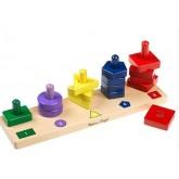 ชุดบอร์ดแยกแยะรูปร่าง สี และจำนวน - Stack and Sort Board ยี่ห้อ Melissa and Doug