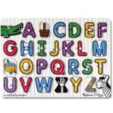 พัซเซิลตัวอักษร A-Z มีภาพข้างหลัง - See Inside Alphabet Puzzle ยี่ห้อ Melissa and Doug