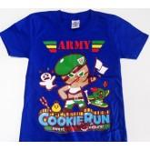 เสื้อยืดคอกลม ลายคุกกี้รัน Cookie run  ผ้ายืด เนื้อผ้านิ่มใส่สบายสีไม่ตก ในราคาเพียง 170 บาทเท่านั้น